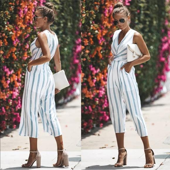 1f6be7be4a9d Women casual Capri romper jumpsuit stripes